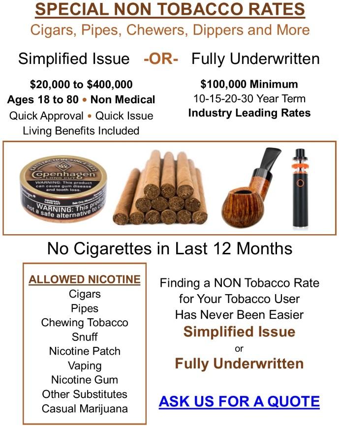 Non Tobacco Rates 2.0518R