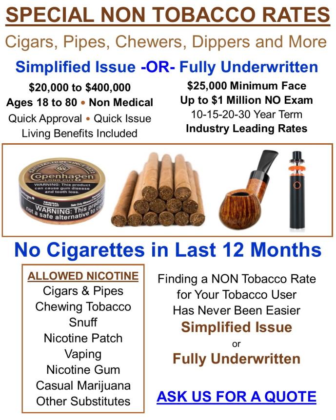 Non Tobacco Rates.0919R